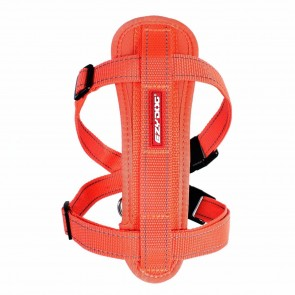 EZY-DOG HIGH QUALITY CHESTPLATE HARNESS WITH FREE SEATBELT ATTACHMENT (ORANGE)
