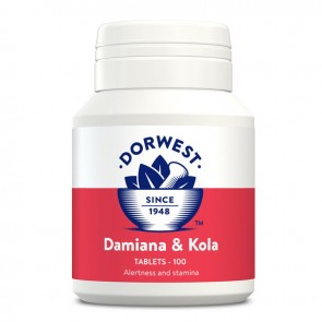 DORWEST HERBS DAMIANA & KOLA TABLETS INCREASES Energy & Alertness In Dogs & Cats