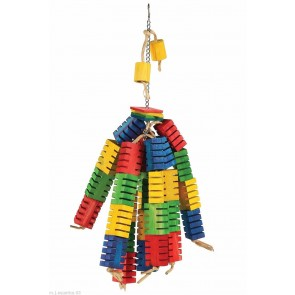 GROOVY COLOUR BLOCKS PARROT TOYS