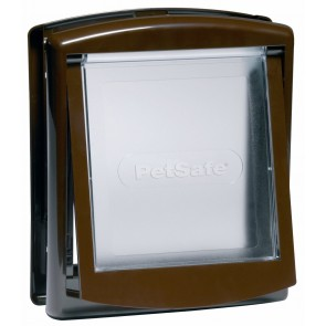 CAT FLAP BROWN (Lockable, suitable for other small animals)