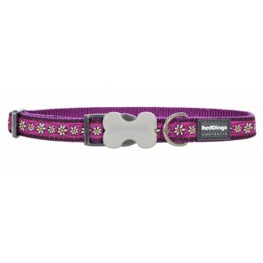 RED DINGO FULLY ADJUSTABLE DOG / PUPPY COLLARS DAISY CHAIN PURPLE