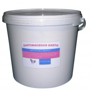DIATOMACEOUS EARTH FOR RED MITE 10Kg RESEALABLE BUCKET 100% ORGANIC