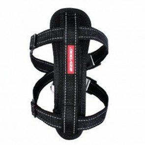 EZY-DOG HIGH QUALITY CHESTPLATE HARNESS WITH FREE SEATBELT ATTACHMENT (BLACK)